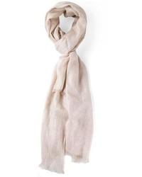 Bufanda de algodón en beige de Brunello Cucinelli