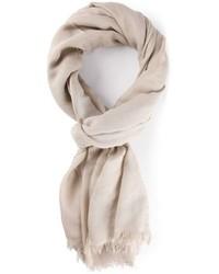 Bufanda de algodón en beige de Lanvin