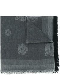 Bufanda de algodón en gris oscuro de Kenzo