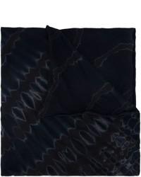 Bufanda de algodón estampada negra de Raquel Allegra