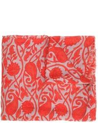 Bufanda de algodón estampada roja de Closed