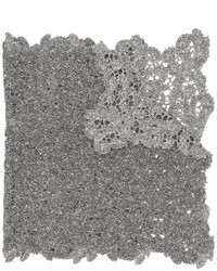 Bufanda de algodón gris de Fabiana Filippi
