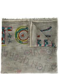 Bufanda de algodón gris de Faliero Sarti