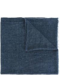 Bufanda de algodón tejida azul marino de Diesel