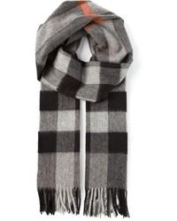 Bufanda de cuadro vichy en gris oscuro de Burberry