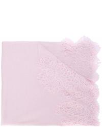 Bufanda de encaje rosada de Ermanno Scervino