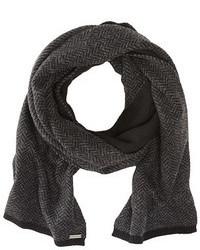 Bufanda de espiguilla en gris oscuro
