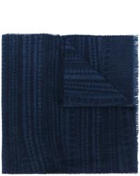 Bufanda de grecas alpinos azul marino de Pringle