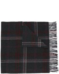 Bufanda de lana a cuadros en gris oscuro de Polo Ralph Lauren