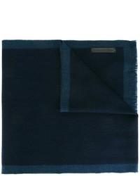 Bufanda de Lana Azul Marino de Ermenegildo Zegna