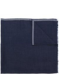 Bufanda de lana azul marino de Giorgio Armani