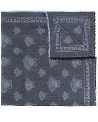 Bufanda de lana azul marino de Versace