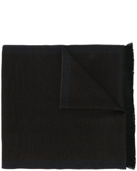 Bufanda de lana de espiguilla en marrón oscuro de Corneliani