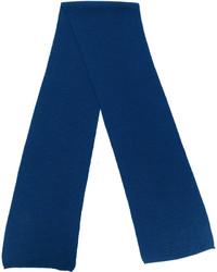 Bufanda de lana de punto azul marino de Canali
