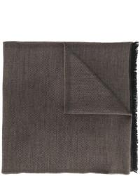 Bufanda de lana de punto marrón de Tom Ford
