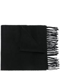 Bufanda de lana de punto negra de Pringle
