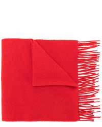 Bufanda de lana de punto roja de Pringle