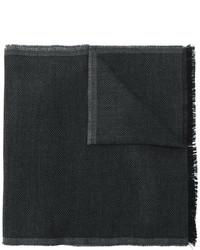 Bufanda de lana de rayas horizontales en gris oscuro de Tom Ford