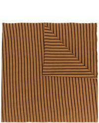 Bufanda de lana de rayas horizontales en tabaco de Barena