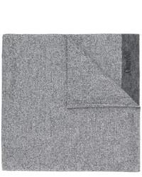 Bufanda de lana de rayas horizontales gris de Church's