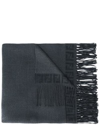 Bufanda de lana en gris oscuro de Fendi