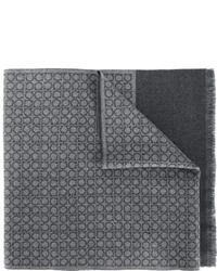 Bufanda de lana en gris oscuro de Salvatore Ferragamo