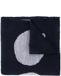 Bufanda de lana estampada azul marino de Kolor
