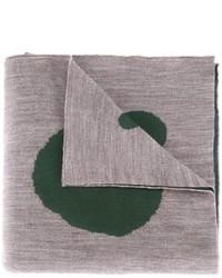 Bufanda de lana estampada gris