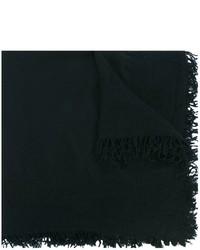 Bufanda de lana tejida negra de Faliero Sarti