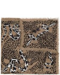 Bufanda de leopardo marrón de Alexander McQueen