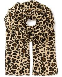 Bufanda de leopardo marrón