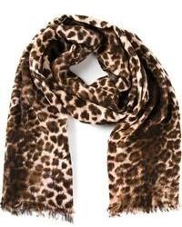 Bufanda de leopardo marrón de By Malene Birger