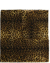 Bufanda de Leopardo Marrón de Saint Laurent