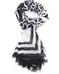 Bufanda de Leopardo Negra y Blanca de Marc Jacobs