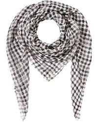 Bufanda de lino en gris oscuro