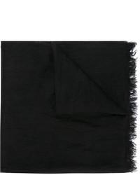 Bufanda de lino negra