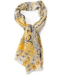 Bufanda de paisley amarilla de Etro