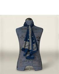 Bufanda de paisley azul marino
