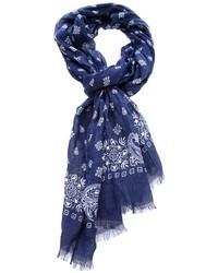 Bufanda de paisley azul de Paolo Pecora