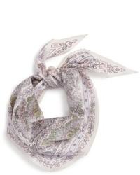 Bufanda de paisley blanca
