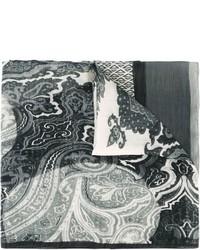 Bufanda de paisley gris de Etro