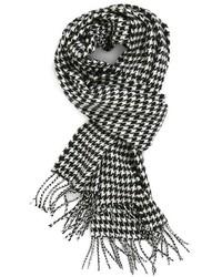 Bufanda de pata de gallo en blanco y negro