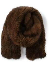Bufanda de pelo marrón