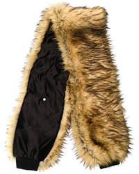 Bufanda de pelo marrón de Filles a papa