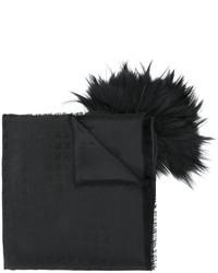 Bufanda de pelo negra de Bally