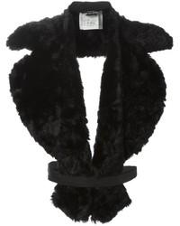 Bufanda de pelo negra