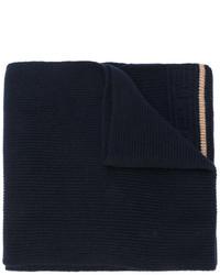 Bufanda de punto azul marino de Versace