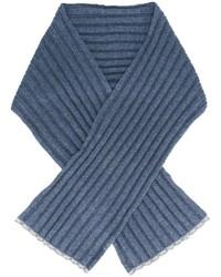 Bufanda de punto azul de Brunello Cucinelli