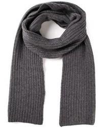 Bufanda de punto en gris oscuro