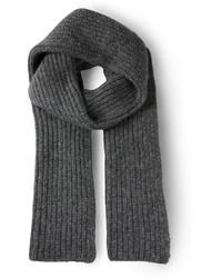 Bufanda de punto en gris oscuro de Cédric Charlier